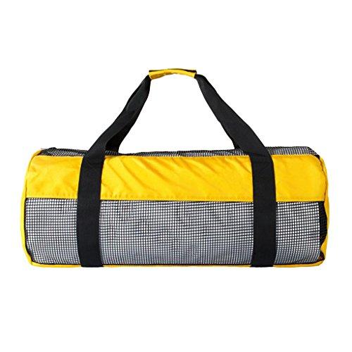 FLAMEER Dive Gear Bag Schwere Mesh Duffle Tasche Für Das Tauchen Scuba Snorkel Surf Schwimmen Flossen Maske Brille Neoprenanzug - Gelb