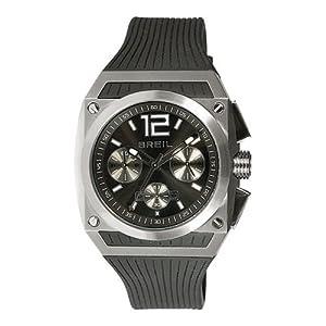 Breil TW0692 - Reloj analógico de cuarzo para hombre con correa de plástico, color negro de Fizz