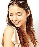 Aukmla Head Chain Headpiece Women Tassels Leaves Jewelry Bohemia Headband Party Hair Band