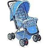 LuvLap Starshine Stroller / Pram, Easy Fold for Newborn Baby / Kids, 0-3 Years (Sky Blue)