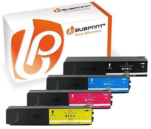 Bubprint 4 Druckerpatronen kompatibel für HP 970 971 XL 970XL 971XL für OfficeJet Pro X 476DN 476 DW X476 X476DW 476DW X451DW X551DW X576DW Multipack (X576dw Hp Drucker)