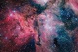 1art1 68496 Der Weltraum - Leuchtender Sternenstaub Und Kosmische Wolken XXL Poster 120 x 80 cm