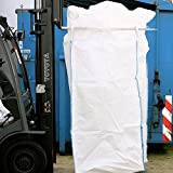 Big Bag 100 x 100 x 200 cm, Schürze, Boden geschlossen, uv-stabilisiert, unbeschichtet, 4 Hebeschlaufen, SWL 1000 kg