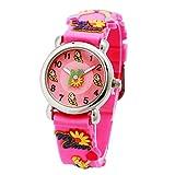 Kinderuhr Silikon Armband Uhr Wasserdichtes 3D lieblich Tiere Cartoon Digital Armbanduhr Zeit Lehrer Geschenk für Kinder kleine Mädchen Jungen (Pink Mädchen)