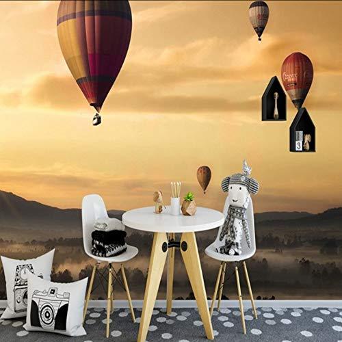 Dalxsh 3D Tapete Wände Schöne Sonnenuntergang Glühen Hot Ballon Foto Mural Benutzerdefinierte Tapete Wohnzimmer Wandbild-280X200Cm