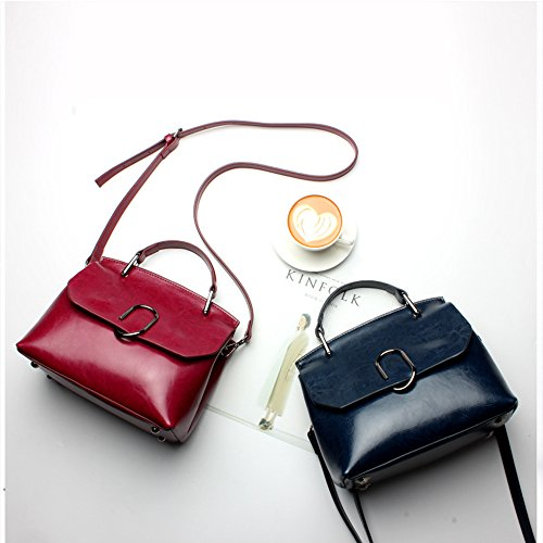 Anne, Borsa a spalla donna nero Red wine Black