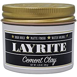 Layrite Cement Matte Hair Clay 4 Ounces by Layrite