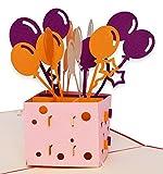 #7: Yolopop Handmade Birthday Balloons Greeting Card for Husband | Boyfriend | Girlfriend