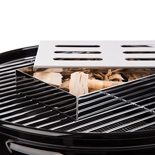 51cQHcC8lXL - Räucherbox   Smoker Box   Smokebox   Smokerbox   Grillzubehör für Gasgrill, Kohlegrill, Kugelgrill   Verleiht Ihrem Grillgut Das Besondere Aroma   Rostfreier Stahl   Spülmaschinenfest   von Blumtal