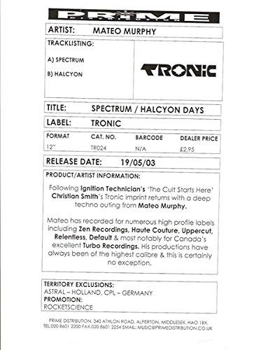 Spectrum / Halcyon Days [Vinyl Single 12''] -