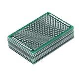 Akozon Basetta Millefori, 10 pz Doppia Faccia Prototipazione Circuiti Stampati Universale Componenti Elettronici per Saldatura a Saldare Fai da te 4 x 6cm