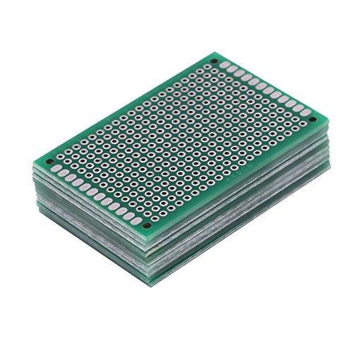 10Pcs 4 x 6 cm Doppelt Seiten Universal PCB-Leiterplatte Löten Prototype Kit Für DIY Elektronische Projekt (Kits Projekte Elektronische)