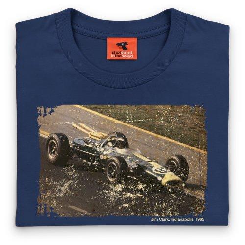 Jim Clark Indianapolis 1965 T-shirt, Uomo Blu navy