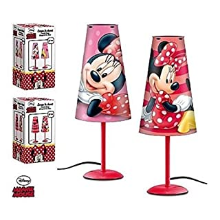 Lamp Bedside Conical DISNEY MINNIE MOUSE Child Room Red - LQ2027