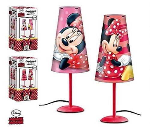 (Nachttischlampe konisch Disney Minnie Maus Kind Zimmer rot - LQ2027)