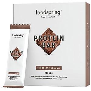 foodspring Protein Riegel, 12er Pack Eiweißriegel ohne Zuckerzusatz, Hergestellt in zertifizierten Produktionen in Deutschland
