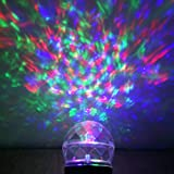 Salcar LED Lichteffekt mit 2 Modi, RGB & Weiß, dynamisches Feuer Licht, Gartenleuchte Projektor, Mauer Dekoration, Party Licht, Lichtkugel, Bühnenlicht für Festen, Weihnachten, Karneval