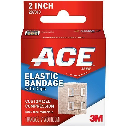 Elastic Bandage With Clips 2 Inches 2 Inches by ACE