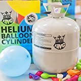 M-import Helium Ballongas 250L für 30 Luftballons - Heliumflasche Gas Party (mit 30 Latexballons)