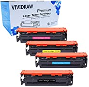 VIVIDRAW Compatible Toner Replacement for HP 131A CF210A CF211A CF212A CF213A work with HPLaserJet Pro 200 col
