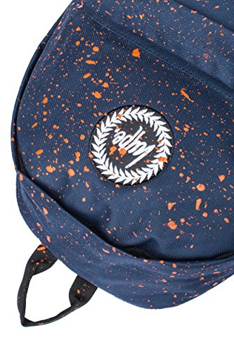 Hype Uomo Zaino Logo Speckle, Blu Navy Orange