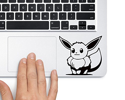Evoli Eevee Pokemon TRACKPAD Sticker Aufkleber (Schwarz)