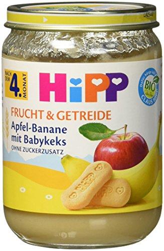 HiPP Apfel-Banane mit Babykeks, 6er Pack (6 x 190 g)
