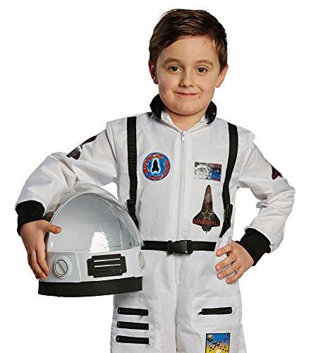 Kostüm Kind Raumfahrer (Helm für Kinder Astronauten-Kostüm | Karnevals Zubehör Astronauten-Helm in Weiß für Raumfahrer-Kostüme | Space Boy Faschings Accessoire für Weltall)