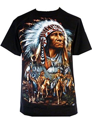 mens-eagle-wolf-biker-native-american-indian-people-moon-motorbike-t-shirt-xl-design-2