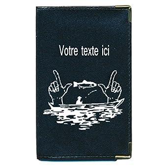 Tasche Schutz Schutzhülle für Kfz-Papiere-Führerschein Fischer Humor Personalisierte mit Ihrem Namen
