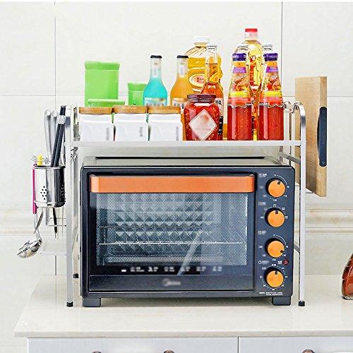 Rangement de cuisine Racks De Four À Micro-ondes En Acier Inoxydable Ustensiles De Cuisine Rack Étagères De Rangement, Avec Des Crochets ( Couleur : Knife plate rack , taille : 1 layer -55cm )