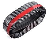 zanasta Stoßstangenschutz Carbon-Look Folie, 2.5m selbstklebend   Gummi Auto Schutz Abdeckung für die Frontlippe, Schwarz