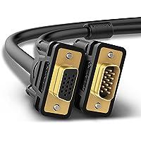 UGREEN Cable Alargador Coaxial de Vídeo VGA/SVGA HD15 Macho a Hembra con Conectores Dorados y con Núcleo de Ferrita para Proyectores, HDTV y Monitores (2M)