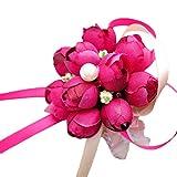 Lumanuby 1x Flor knospe Wrist Flower para brautjungfern/novia brazalete Delicate dama de honor para Boda/Cierre Ball boda accesorios