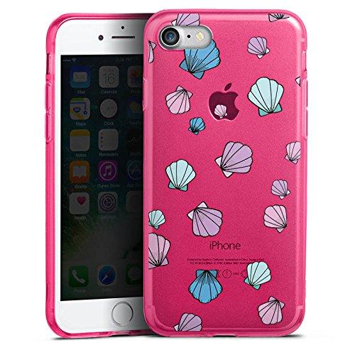 Apple iPhone 8 Silikon Hülle Case Schutzhülle Muscheln ohne Hintergrund Muster Silikon Colour Case pink