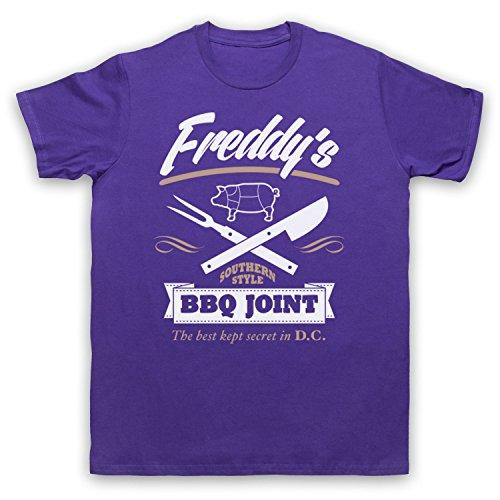 Inspiriert durch House Of Cards Freddy's BBQ Joint Unofficial Herren T-Shirt Violett