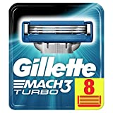 Gillette Mach3 Turbo Men's Razor Blades – 8 Refills