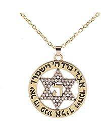 Moda cristal Collar Estrella judía de David Colgante Collar Joyería de ...