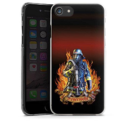 Apple iPhone 7 Silikon Hülle Case Schutzhülle Feuerwehrmann Feuerwehr Firefighter Hard Case transparent
