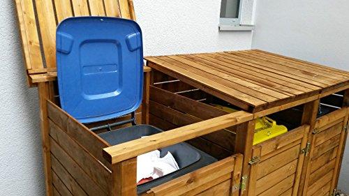Mülltonnen-Box Mülltonnenverkleidung für 3 Tonnen inkl. Rückwand - 2