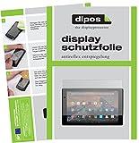dipos I 2X Schutzfolie matt passend für Amazon Fire HD 10 2017 Modell Folie Bildschirmschutzfolie