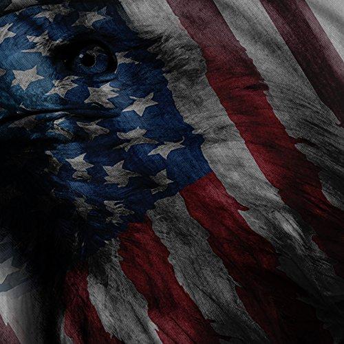 amerikanisch Adler Ruhm UNS Flagge Damen S-2XL Muskelshirt | Wellcoda Schwarz