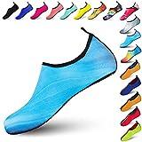 Funnie Zapatos de Agua Mujeres Hombres Niños de Aqua Zapatillas Secado Rápido Ligeros Zapatos de Descalzo Piel Calcetines de Buceo Natación Surf para Caminar Yoga Piscina de Beach Park