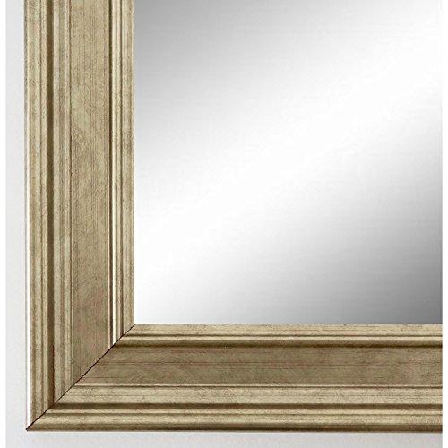Wandspiegel Spiegel Badspiegel - Hamburg 3,4 - Silber - 40 x 60 - Außenmaß inkl. Massivholz-Rahmen - viele Größen verfügbar - Modern, Barock, Antik, Vintage