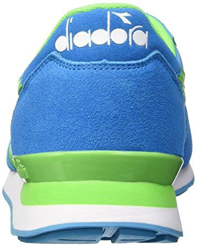 Diadora Unisex-Erwachsene Camaro Pumps, 36 EU Multicolore (C6106 Azzurro Ciano Fluo/Verde Fluo)
