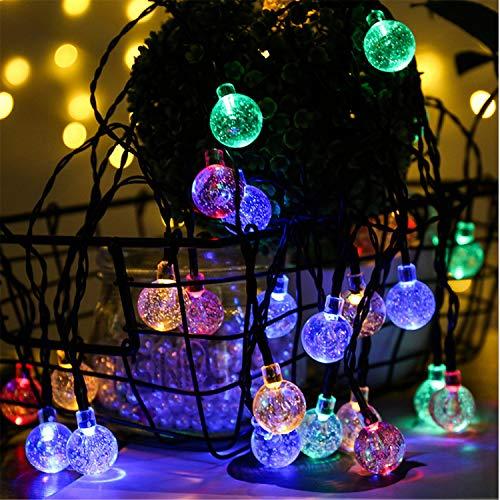 MS.REIA Bunte Blase Ball Lights Solar Energy String Licht Energieeinsparung, 21ft Garten Home Shop Outdoor Decor