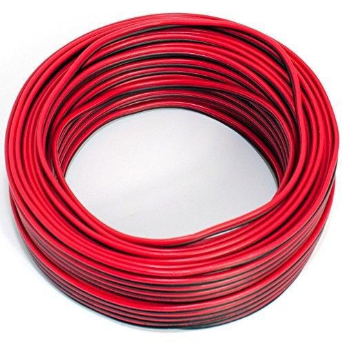 Lautsprecherkabel 2x0,50mm2 - 25m - rot-schwarz - CCA - Audiokabel - Boxenkabel