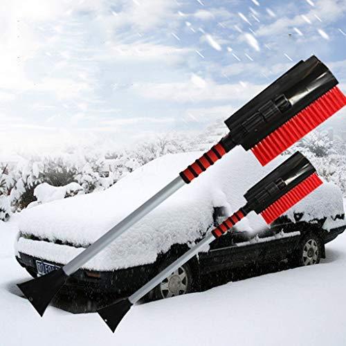 Holidaysummer 3-in-1 Schneeschaufel Bürste Schnee Entfernen Kühlwerkzeug Eiskratzer rund Magic Trichter Form klein Auto Windschiel - leicht robust