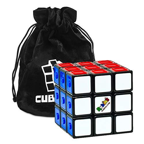 Cubikon Original Rubik's Touch Cube - fühlbare Muster auf den Farben - 3x3 Zauberwürfel zum Blindlösen - inkl Tasche - Muster Für Cubes