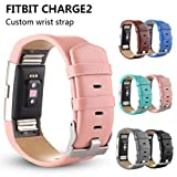 #5: Voberry Sports Genuine Leather Watch Band Strap for Fitbit Charge 2 Wrist Band Bracelet